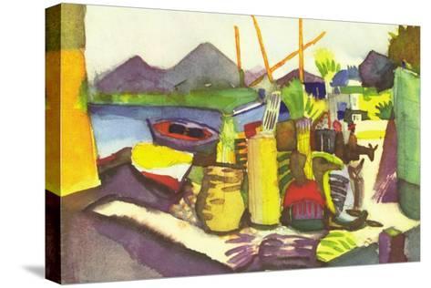 Landscape At Hammamet-Auguste Macke-Stretched Canvas Print
