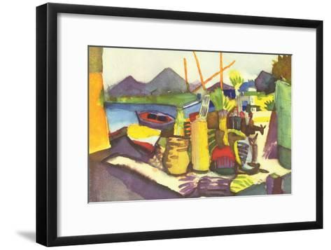 Landscape At Hammamet-Auguste Macke-Framed Art Print