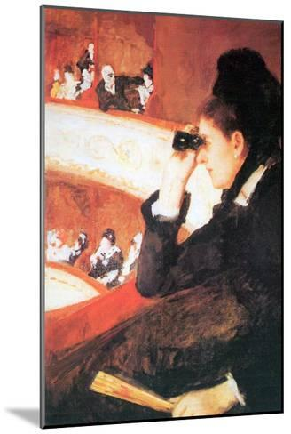 In The Opera-Mary Cassatt-Mounted Art Print