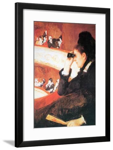 In The Opera-Mary Cassatt-Framed Art Print