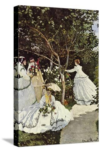 Women In The Garden-Claude Monet-Stretched Canvas Print