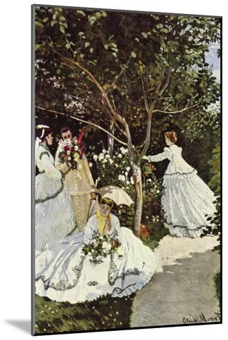 Women In The Garden-Claude Monet-Mounted Art Print