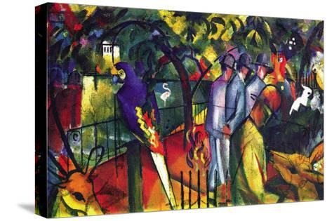 Zoological Gardens-Auguste Macke-Stretched Canvas Print