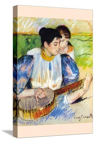 The Banjo Lesson-Mary Cassatt-Stretched Canvas Print