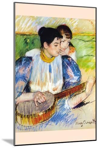 The Banjo Lesson-Mary Cassatt-Mounted Art Print