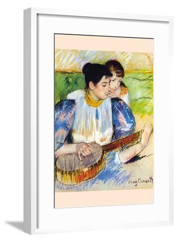 The Banjo Lesson-Mary Cassatt-Framed Art Print