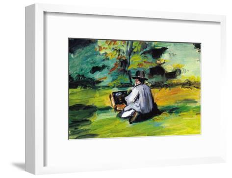 Painter At Work-Paul C?zanne-Framed Art Print