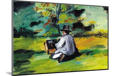 Painter At Work-Paul C?zanne-Mounted Art Print