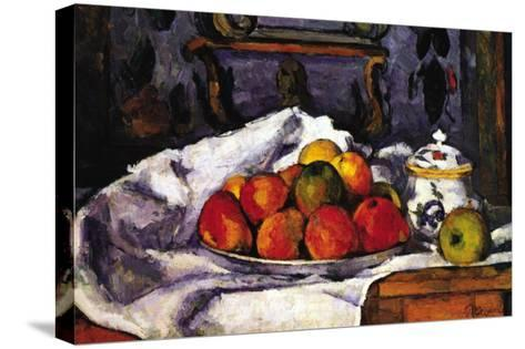 Still Life Bowl of Apples-Paul C?zanne-Stretched Canvas Print