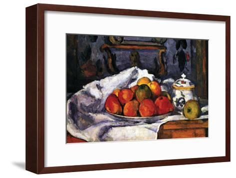 Still Life Bowl of Apples-Paul C?zanne-Framed Art Print