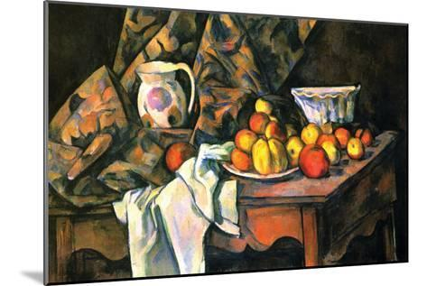 Still Life with Apples and Peaches-Paul C?zanne-Mounted Art Print
