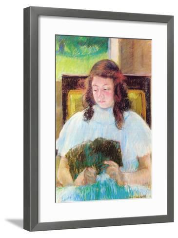 Young Girl Reading-Mary Cassatt-Framed Art Print