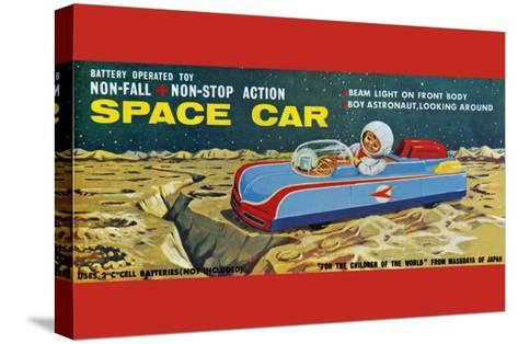 Space Car--Stretched Canvas Print