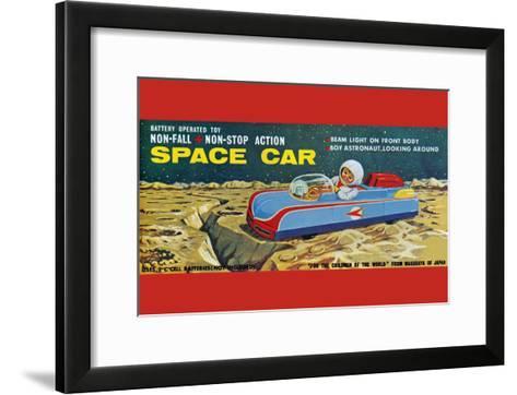 Space Car--Framed Art Print