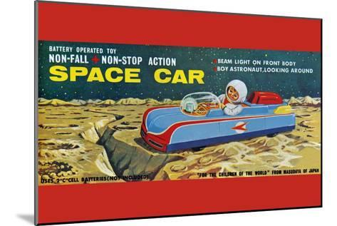 Space Car--Mounted Art Print
