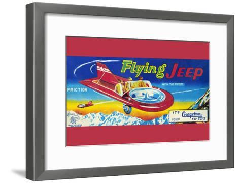 Flying Jeep--Framed Art Print