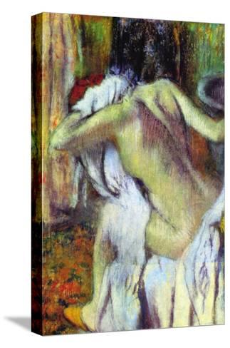 After Bathing-Edgar Degas-Stretched Canvas Print