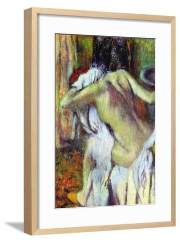 After Bathing-Edgar Degas-Framed Art Print