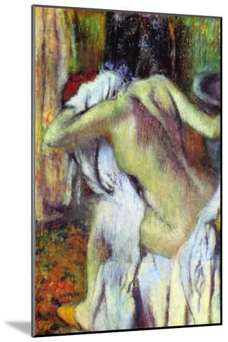 After Bathing-Edgar Degas-Mounted Art Print