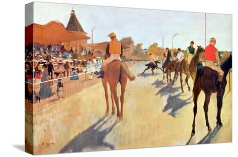 Grand Stand-Edgar Degas-Stretched Canvas Print