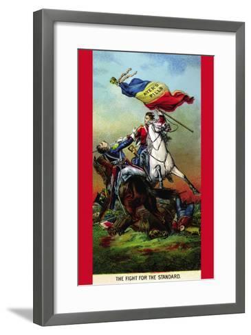 Ayer's Pills - The Fight For The Standard--Framed Art Print