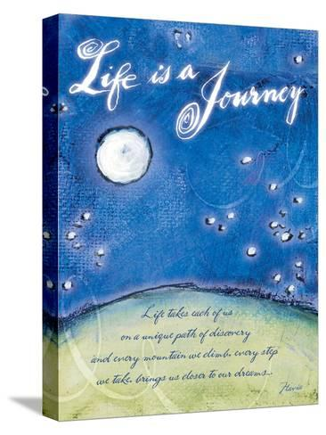 Life is a Journey-Flavia Weedn-Stretched Canvas Print