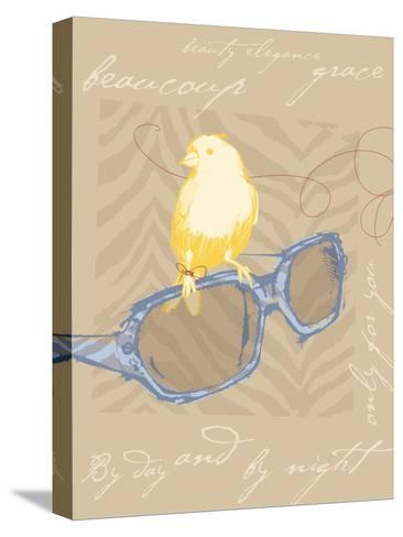 Yellow Bird--Stretched Canvas Print