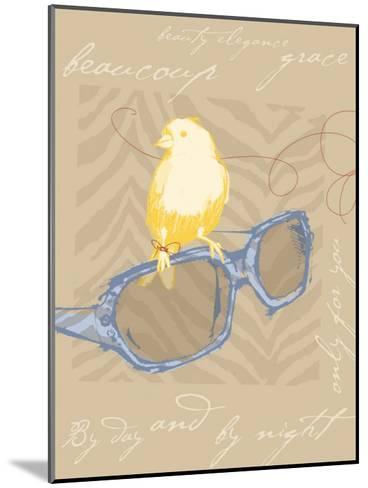 Yellow Bird--Mounted Giclee Print