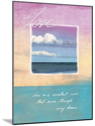 Love's Horizon--Mounted Giclee Print