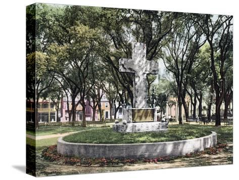 The Cross Bienville Park Mobile Alabama--Stretched Canvas Print