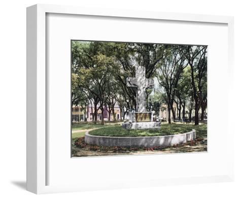 The Cross Bienville Park Mobile Alabama--Framed Art Print