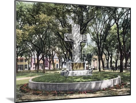The Cross Bienville Park Mobile Alabama--Mounted Giclee Print