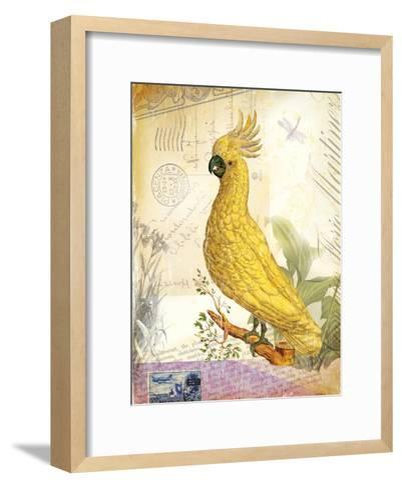 Vintage Botanical Cockatoo Print-Bessie Pease Gutmann-Framed Art Print