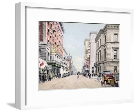 Royal Street South from St. Francis Mobile Alabama--Framed Art Print