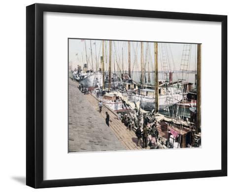 Shipping at Mobile Alabama--Framed Art Print