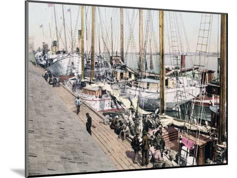 Shipping at Mobile Alabama--Mounted Giclee Print