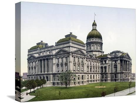 State House Indianapolis Indiana--Stretched Canvas Print