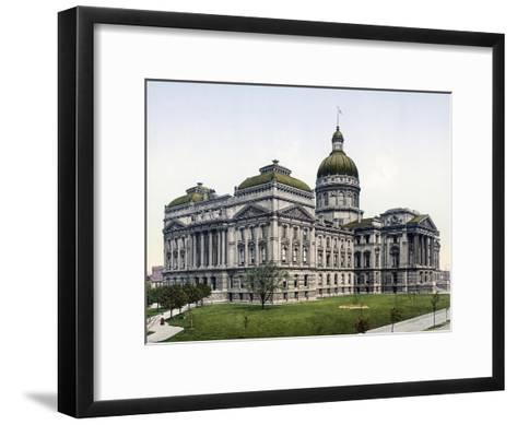 State House Indianapolis Indiana--Framed Art Print