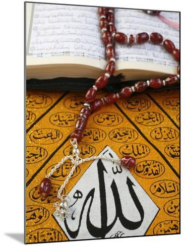 Koran, Rosary and Allah Calligraphy, Paris, France, Europe-Godong-Mounted Photographic Print