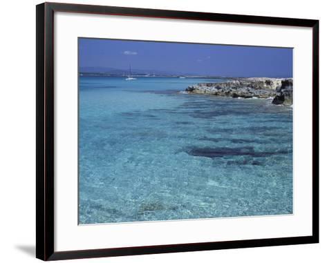 Rocky Coast and Sea, Formentera, Balearic Islands, Spain, Mediterranean, Europe-Vincenzo Lombardo-Framed Art Print