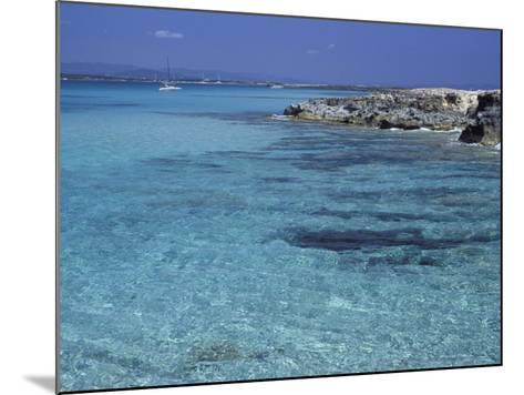Rocky Coast and Sea, Formentera, Balearic Islands, Spain, Mediterranean, Europe-Vincenzo Lombardo-Mounted Photographic Print