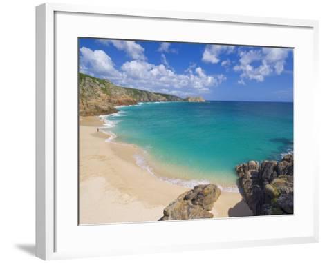 Porthcurno Beach, Cornwall, England, United Kingdom, Europe-Neale Clark-Framed Art Print