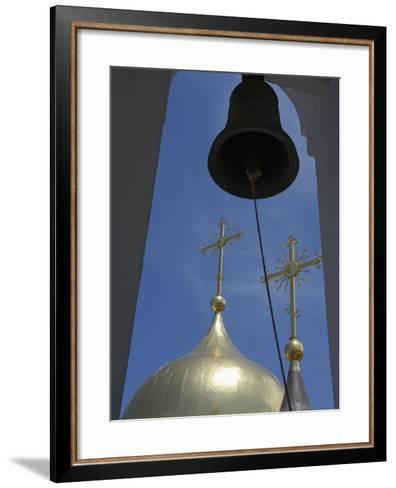 Belfry and Domes of Newly-Built Russian Orthodox Cathedral in Historic Centre, Habana Vieja, Cuba-John Harden-Framed Art Print