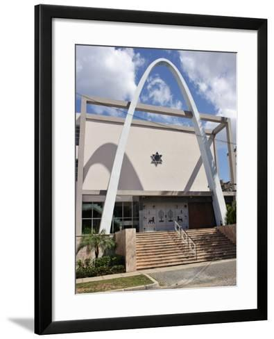 Synagogue and Jewish Community Centre, Vedado, Havana, Cuba, West Indies, Central America-John Harden-Framed Art Print