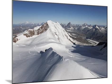 Climbers on Peak Polluce in the Monte Rosa Massif, Piedmont, Italian Alps, Italy, Europe-Angelo Cavalli-Mounted Photographic Print