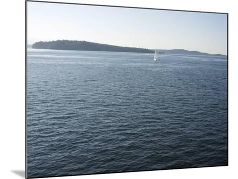 Sailboat on the Puget Sound Passes Blake Island, Washington State, United States of America-Aaron McCoy-Mounted Photographic Print
