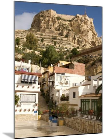 Santa Cruz Quarter and Santa Barbara Castle in Background, Alicante, Valencia Province, Spain-Guy Thouvenin-Mounted Photographic Print