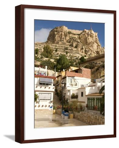 Santa Cruz Quarter and Santa Barbara Castle in Background, Alicante, Valencia Province, Spain-Guy Thouvenin-Framed Art Print