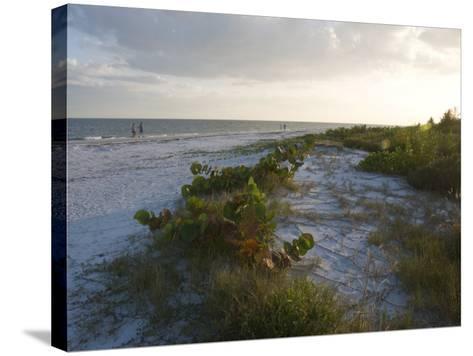 Sunset on Beach, Sanibel Island, Gulf Coast, Florida, United States of America, North America-Robert Harding-Stretched Canvas Print