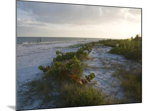 Sunset on Beach, Sanibel Island, Gulf Coast, Florida, United States of America, North America-Robert Harding-Mounted Photographic Print